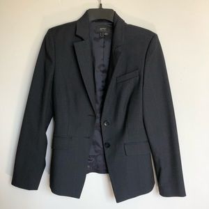 ESPRIT navy plaid blazer